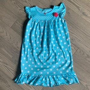 Girls polka dots nightgown